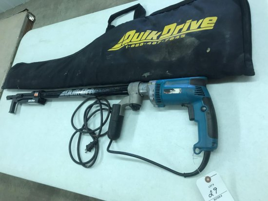 Makita Model 6823Z electric QuikDrive with case, works well - NO SHIPPING