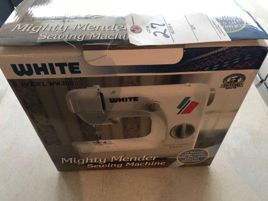 White model WW200 sewing machine, like new - in box - NO SHIPPING