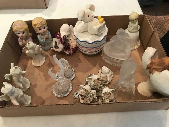 Misc glass and porcelain figurines (Shipping available)