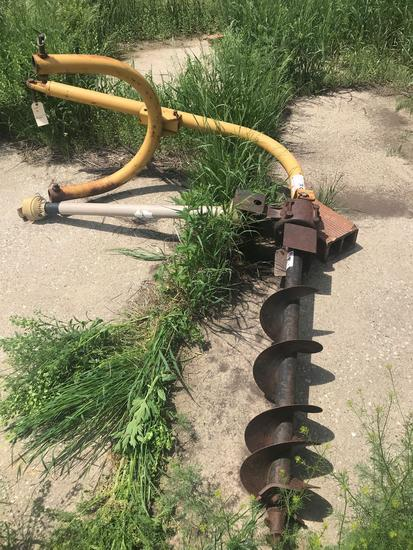 "3pt. post hole digger with 8"" auger"