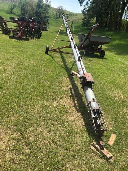 "Peck 61' x 8"" auger, top drive, straight, manual lift"