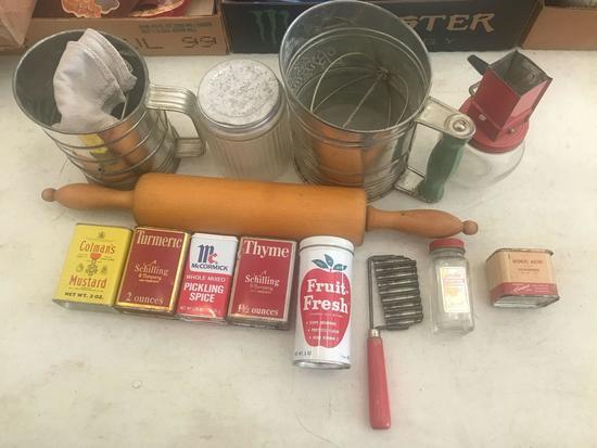 Vintage Kitchen Utensils.