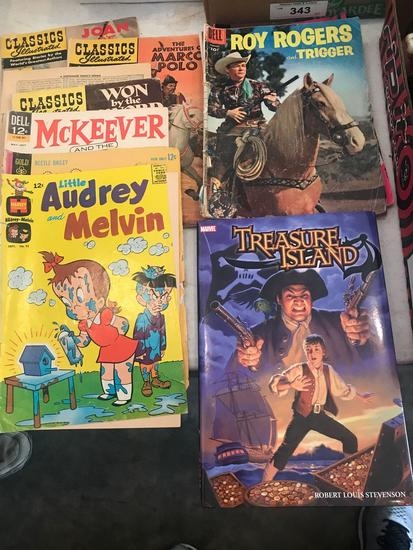 (12) Comics. 10, 12, and 15 cent. Includes Roy Rogers and Trigger