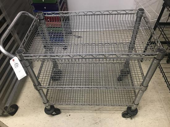 Stainless Steel Portable Bussing Cart