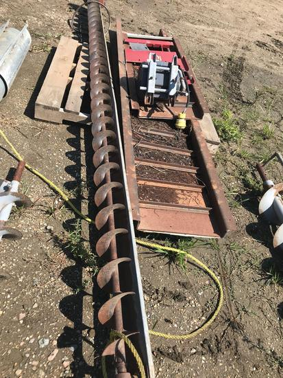 12' sweep auger w/ motor and misc. bin parts