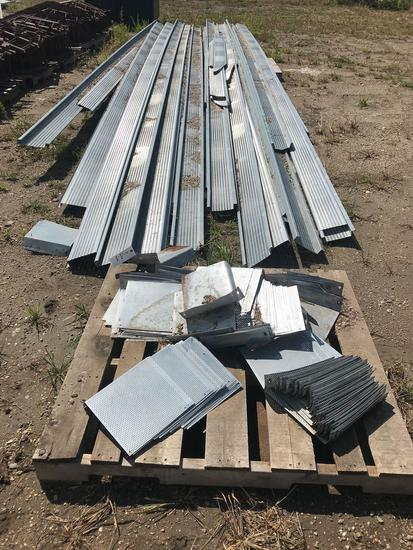 aeration flooring and floor supports for 27' grain bin, each flooring section 8'' wide.