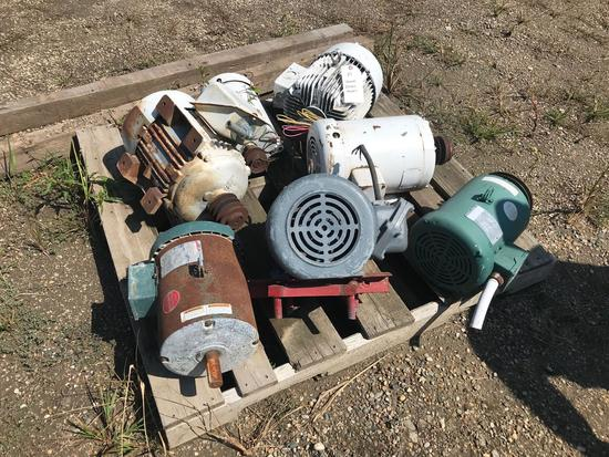 (7) various size electric motors, ranging from 5hp - 7.5hp, 3-phase