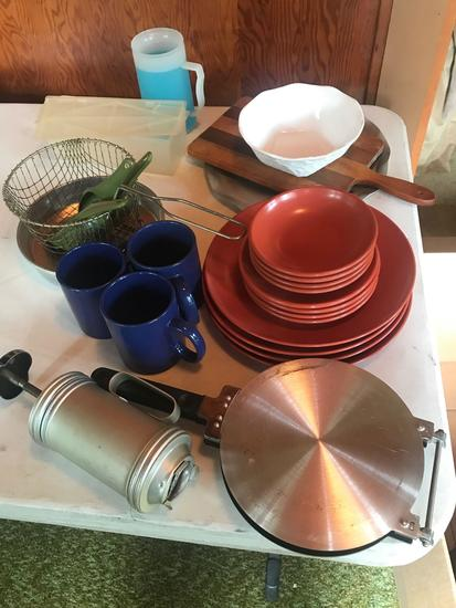 Melmac dishes, cups, pie tins, and much more!