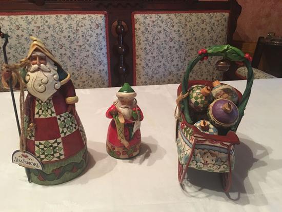 Jim Shore (3 in boxes), Sleigh Bells Ring, Goodwill Lives, Christmas Spirit.