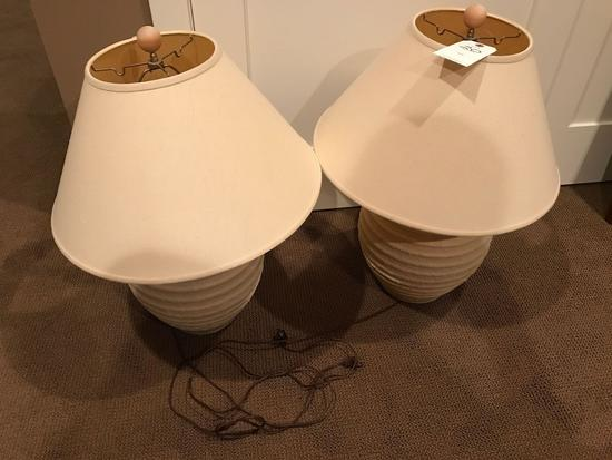 2 matching end table lamps