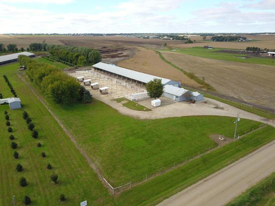 3.44 Surveyed Acres with 46' x 300' Cattle Facility and Office.