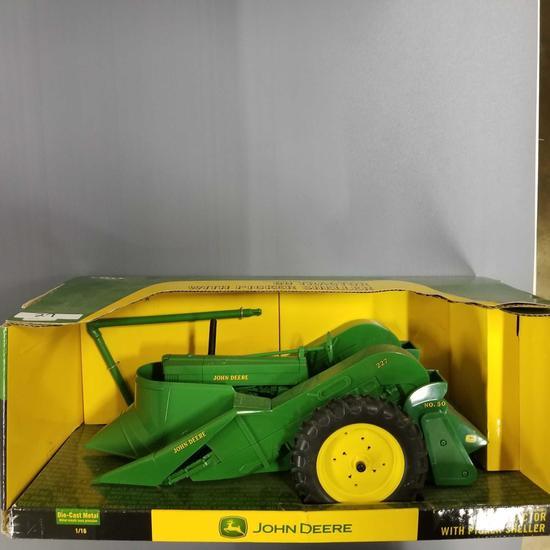 "JOHN DEERE MODEL ""60"" TRACTOR WITH 227 PICKER SHELLER"