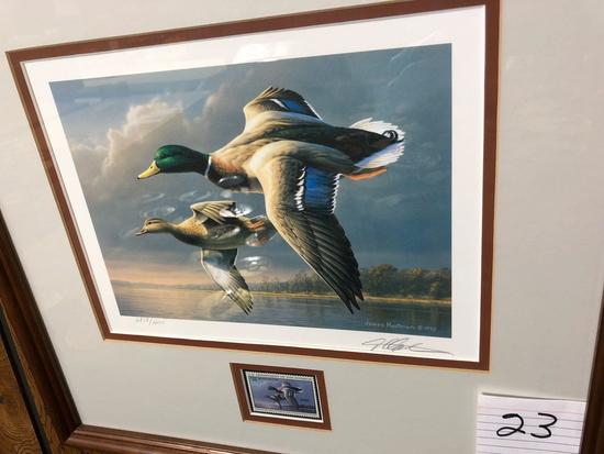 1995 Ducks Unlimited Print/Stamp by James Hautman
