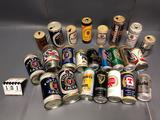 Assortment inc. Fosters, Tennents, Stella Artois, Asahi, Hurricane, Poddingtons, Paderborner