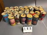 Assortment inc. Strohs, Steinbrau, Schmidt, Storz, Sierra, Sterling, Stag, Silver Thunder, Scotch Bu