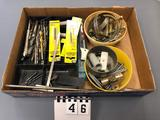Assortment Drill Bits and Clamps