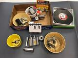 100' Fiberglass Tape Measure, Assorted Sockets, Small Tap Set