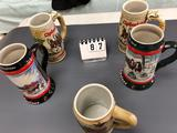 Assortment Budweiser Clydeesdales Steins