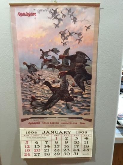 Remington Firearms Calendar 1908