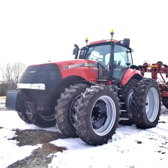 2012 Case IH Magnum 290 MFD 19/4 Powershift Transmission Only 45 Hours!!!