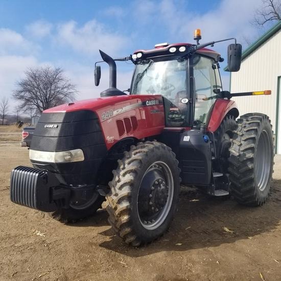 2015 Case-IH Magnum 240 CVT, MFD, Tractor 1139 Hours