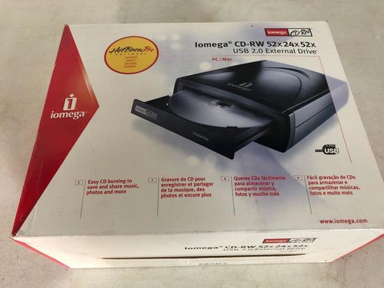Iomega CD-RW 52x24x52, USB 2.0 external drive, new in box!
