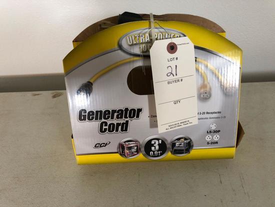 3' Generator cord