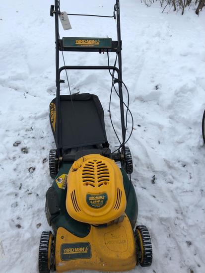 Yard-man 6.25hp, 21'' cut, self propelled lawn mower w/ bagger. NO SHIPPING!