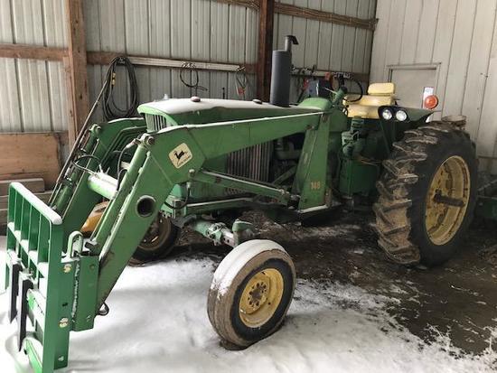 1969 John Deere 3020 Diesel Tractor w/ 148 Loader