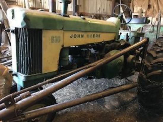 1958 John Deere 630 Gas Tractor w/Stanhoist Loader