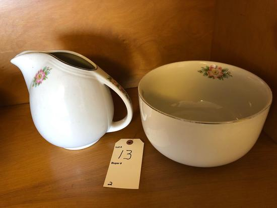 Hall?s matching pitcher & bowl set