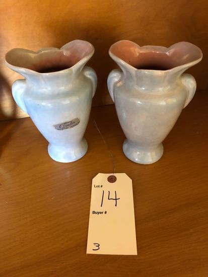 Weller vase & 2 Gonder vases