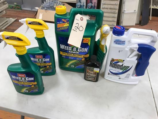 Assortment Liquid Weed Control Products