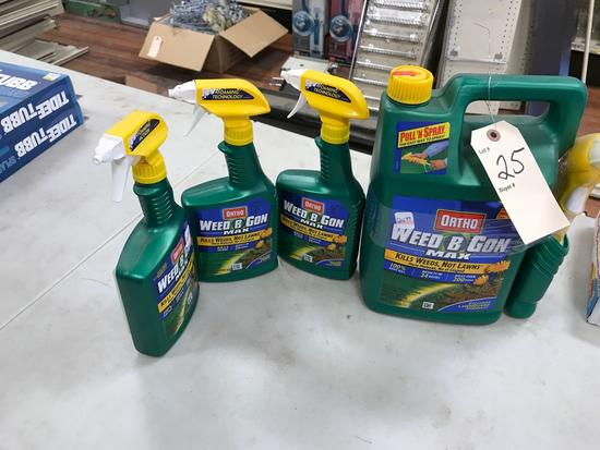 Assortment LIquid Lawn Weed Control Products