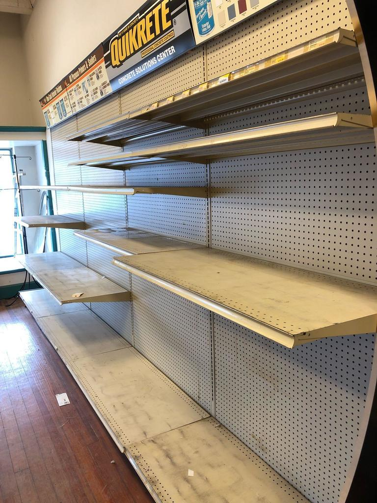 13 Sections of Lozier Steel Shelving