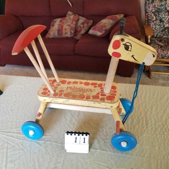 Playschool Vintage Walker Wheel Horse