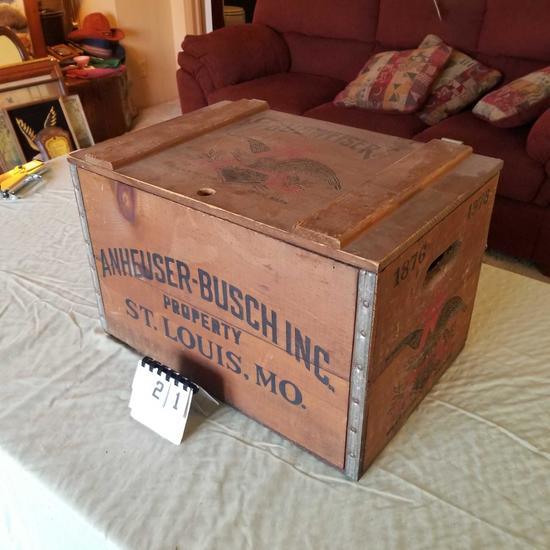 Anheuser-Busch Wood Shipping Box