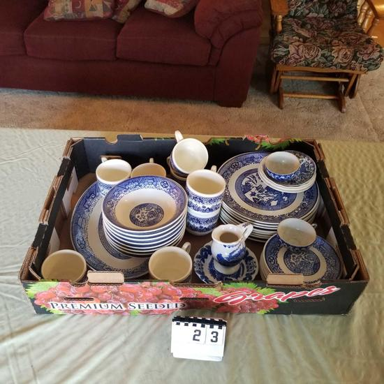 Assortment Blue Dishes