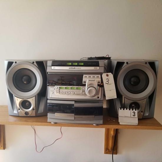 Philips Magnavox Stereo Tuner, CD, Tape Player