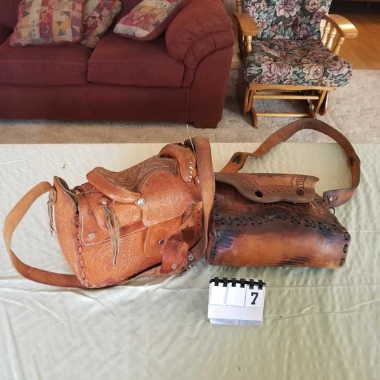 Leather Ladies Purses inc. Saddle Style