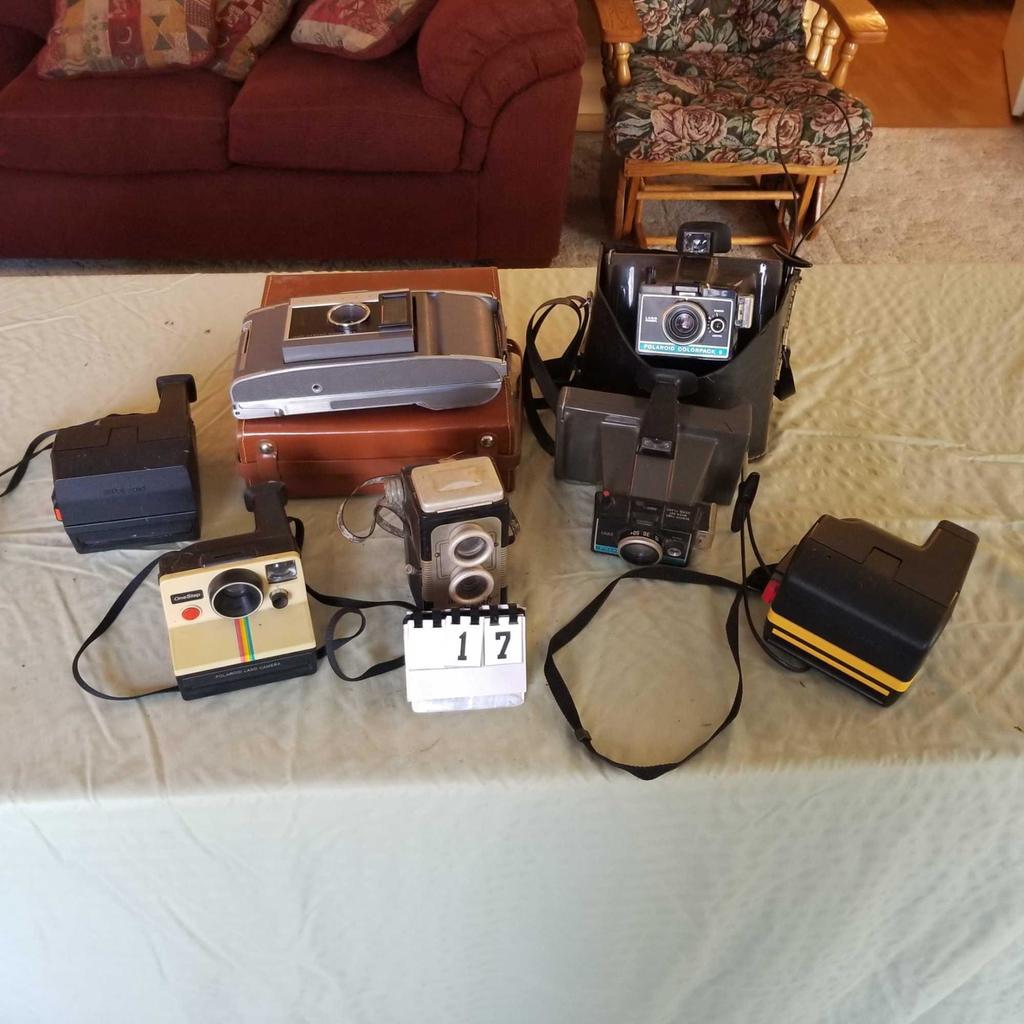 Assortment Cameras inc. Vintage Polaroids
