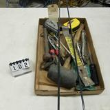 Assortment inc. Bit Extensions, Rubber Mallet, and Vise Grips