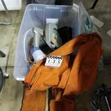 Assortment inc. Welding Vest, Wire, and Knee Pads