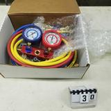 SNAP ON R 12/134 Freon Dual Manifold Gauge and Hose Set