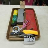 Assortment inc. Impact Screw Driver, Misc Sockets and Tape Measure
