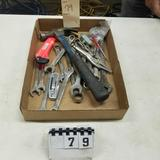 Assortment inc. Hammer, Vise Grips, and Wrenches