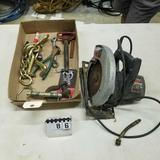 Assortment inc. Lift Chain, Hitch Pins and Skil Saw