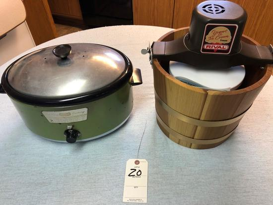 Nesco Full Range Cooker and Rival Electric Cream Maker