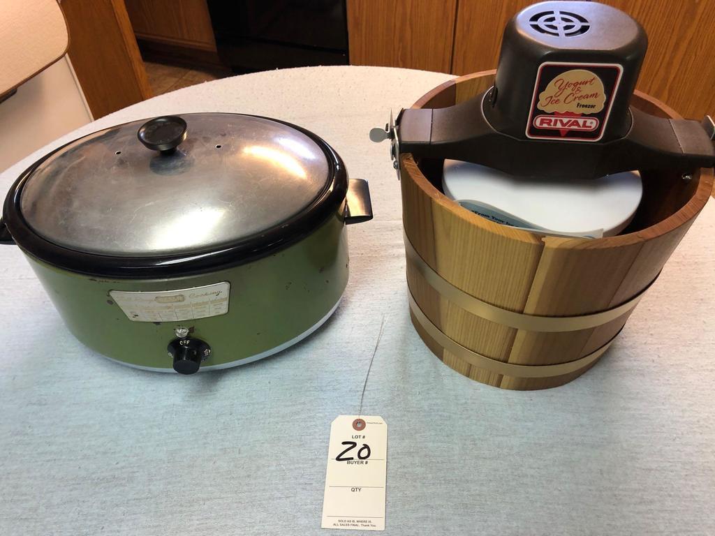 Nesco Full Range Cooker and Rival Electric Cream Maker