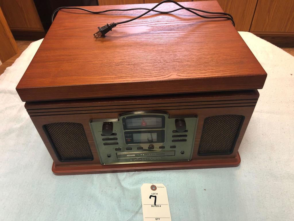 Crosley Radio Replica with AM/FM, CD, and Cassette Player